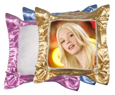 Подушка с фото - цветная