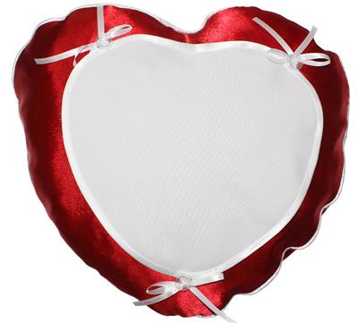 подушка с фото сердце