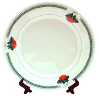Тарелка керамическая белая клубни