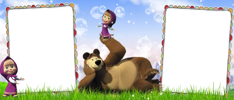 БП_Детский шаблон для кружки скачать бесплатно Маша и Медведь для 2 фото_03